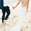 Tropical Beach Glam Bahamas Wedding in Sparkling Gold and Pink!