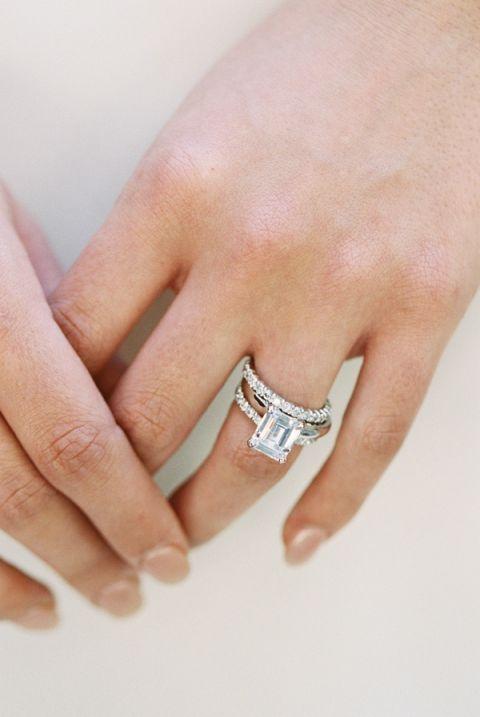 Italian Wedding Band 15 Fresh Emerald Cut Engagement Ring