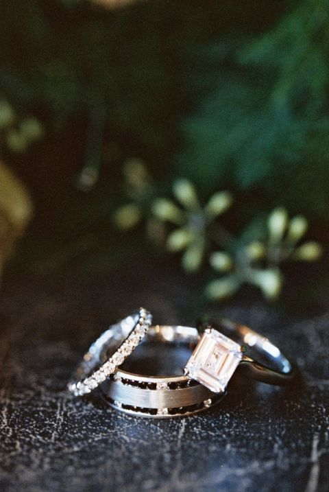 Dramatic Emerald Cut Engagement Ring