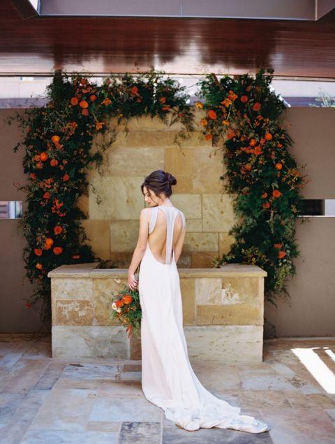Edgy Modern Wedding in Blood Orange and Onyx - Hey Wedding Lady