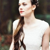 Long Bridal Hairstyle with a Braided Crown | Perry Vaile Photography | http://heyweddinglady.com/fine-art-adventure-loving-redwood-elopement/