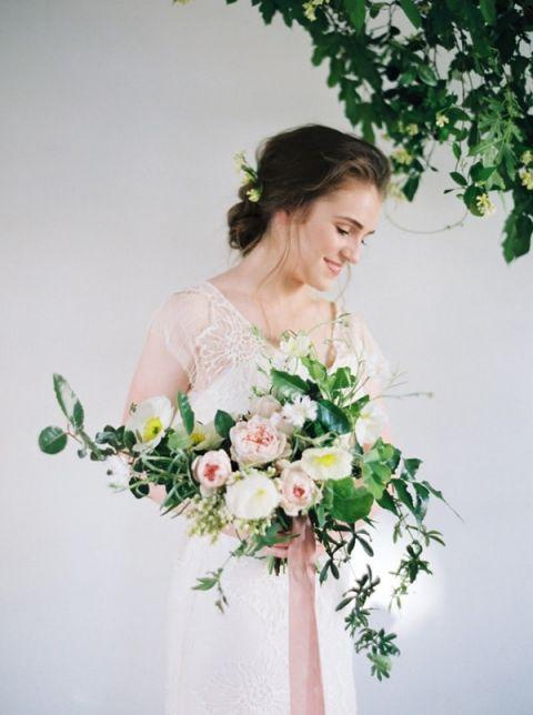 Peony Wedding Dress 18 Best Greenery and Pastel Garden