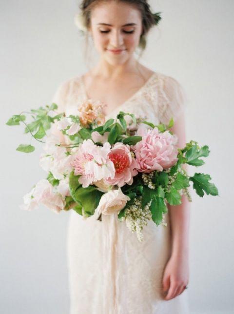 Lush Pink Peony Bridal Bouquet