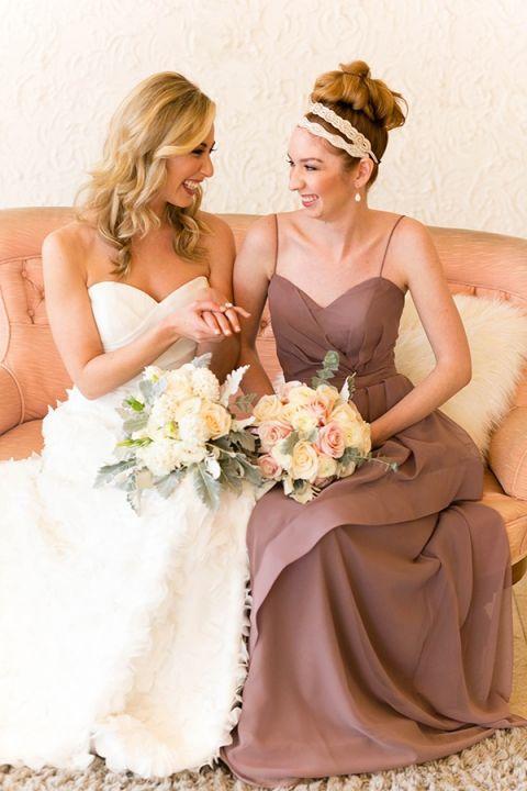 Chic Mauve Dress | Bridesmaid Dresses from Brideside | Styling by Aisle Society | Photography by Emilia Jane | https://heyweddinglady.com/chic-mix-match-bridesmaid-dresses-brideside/