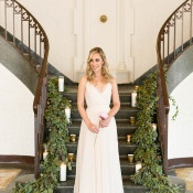 Classic Floor Length Bridesmaid Dress | Bridesmaid Dresses from Brideside | Styling by Aisle Society | Photography by Emilia Jane | http://heyweddinglady.com/chic-mix-match-bridesmaid-dresses-brideside/
