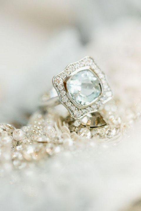 Jade Wedding Ring 2 Spectacular Vintage Aquamarine Engagement Ring