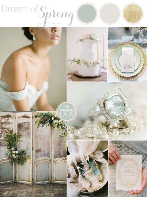 Mixed Metallics - Muted Elegance Wedding in Greyed Jade, Silver, and Gold | https://heyweddinglady.com/mixed-metallic-muted-elegance-wedding-greyed-jade-gold/