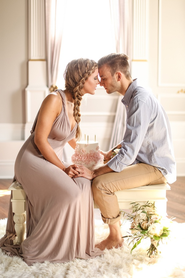 Intimate Love Story Engagement in Blush, Taupe, and Gold ...