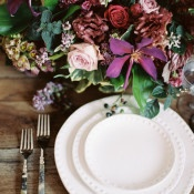 Romantic Rustic Place Setting | Rebecca Hollis Photography | http://heyweddinglady.com/lush-fine-art-wedding-florals-spring/