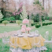 Silver Sequins for a Fairy Tale Sweetheart Table | Jordan Brittley Photography | https://heyweddinglady.com/luminous-spring-garden-wedding-ilac-gray-blush/
