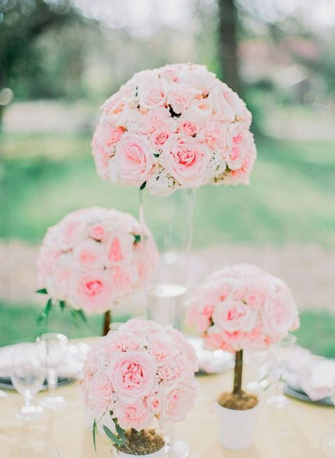 Luminous Spring Garden Wedding in Lilac Gray and Blush Hey Wedding