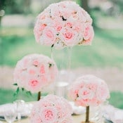 Blush Garden Rose Centerpieces | Jordan Brittley Photography | https://heyweddinglady.com/luminous-spring-garden-wedding-ilac-gray-blush/