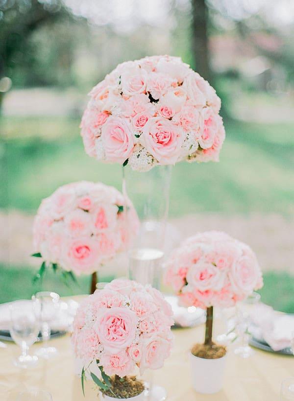 Blush Garden Rose Centerpieces   Jordan Brittley Photography    Http://heyweddinglady.com