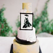 Classic Audrey Hepburn Inspired Wedding Cake | Jordan Brittley Photography | http://heyweddinglady.com/luminous-spring-garden-wedding-ilac-gray-blush/