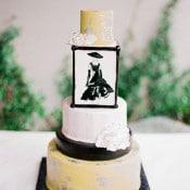 Classic Audrey Hepburn Inspired Wedding Cake | Jordan Brittley Photography | https://heyweddinglady.com/luminous-spring-garden-wedding-ilac-gray-blush/