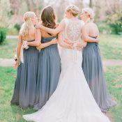 Luminous Spring Garden Wedding in Lilac Gray and Blush | https://heyweddinglady.com/luminous-spring-garden-wedding-ilac-gray-blush/