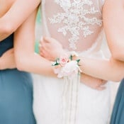Romantic Open Back Wedding Dress with Floral Lace | Jordan Brittley Photography | https://heyweddinglady.com/luminous-spring-garden-wedding-ilac-gray-blush/