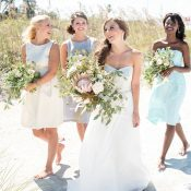 Pastel Nautical Wedding Shoot with Preppy Coastal Details!