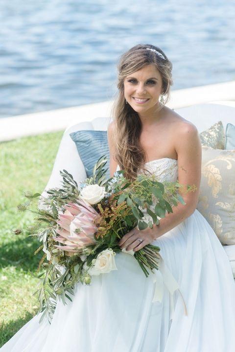 Sweet Nautical Bride | Caroline & Evan Photography | http://heyweddinglady.com/pastel-nautical-wedding-shoot-preppy-coastal-details/
