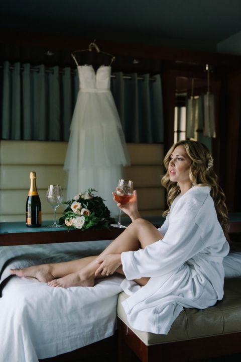 Luxurious Bride Getting Ready for the Wedding Day