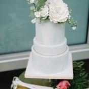 Marble Blue and White Wedding Cake | John Schnack Photography | https://heyweddinglady.com/succulents-sparkles-stripes-modern-socal-wedding/