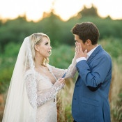 Emotional Elopement with Heartfelt Vows | Tonie Christine Photography | http://heyweddinglady.com/colorful-modern-elopement-magic-hour/