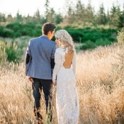 Golden Hour Wedding Portraits int he Woods | Tonie Christine Photography | http://heyweddinglady.com/colorful-modern-elopement-magic-hour/