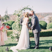 Sweet Garden Wedding with a Floral Arch | Heather Payne Fine Art Photography | http://heyweddinglady.com/enchanted-garden-wedding-colorful-summer-florals/