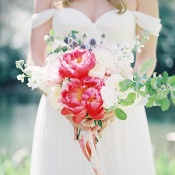Vibrant Peony Bridal Bouquet | Heather Payne Fine Art Photography | https://heyweddinglady.com/enchanted-garden-wedding-colorful-summer-florals/