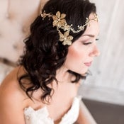 Hand Crafted Gold and Crystal Bohemian Headpiece from Haute Bride