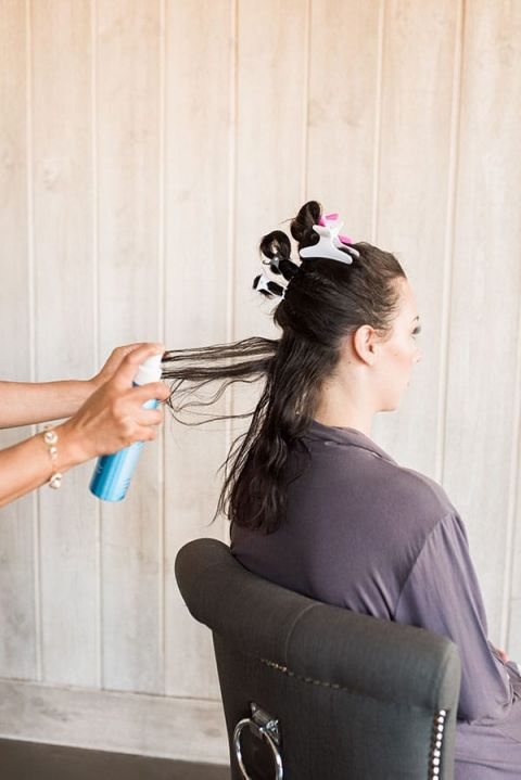 Spray Hair with a Heat Protector before Curling