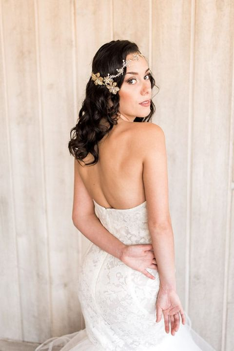 Styling a Modern Bohemian Bridal Headpiece with Haute Bride and Hayley Paige