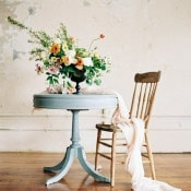 Vintage Sweetheart Table with a Garden Inspired Centerpiece
