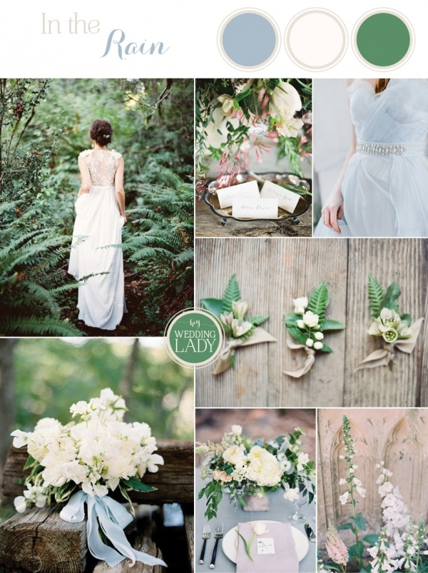 9 ethereal wedding palettes for spring hey wedding lady for Green spring gardens wedding