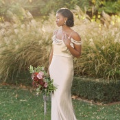 Golden Summer Garden Wedding Portraits