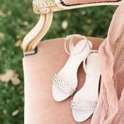 Laser Cut Silver Bridal Shoes