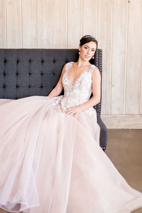 Blush Wedding Dresses 33 Epic Romantic and Dramatic Blush