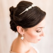 Modern Princess Bride Updo with a Delicate Tiara