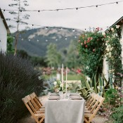 Romantic Rose Farm Reception Under Bistro Lights