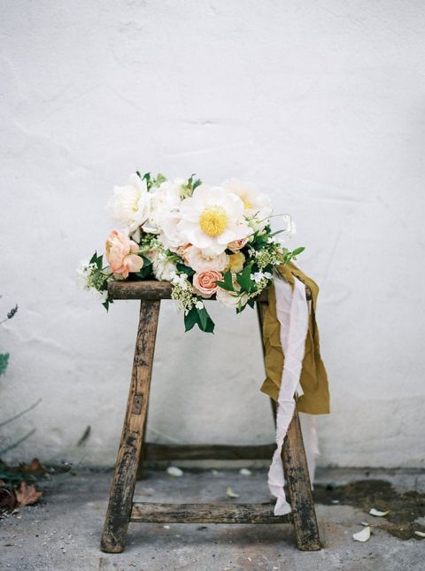 Romantic Tree Peony and Garden Rose Bouquet
