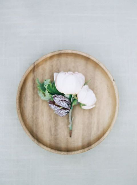 Delicate Botanical Boutonniere