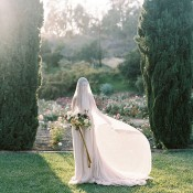 Ethereal Veiled Garden Bride