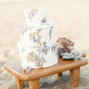 Watercolor Wedding Cake in Amethyst and Gold