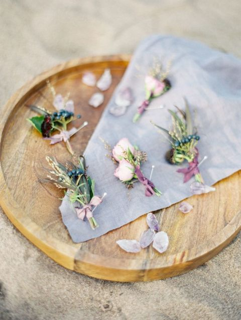 Rustic and Organic Boutonnieres