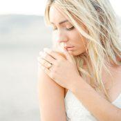 Luminous Bride in the Sand Dunes