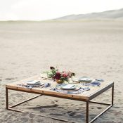 Rustic and Elegant Table Set for an Intimate Desert Elopement