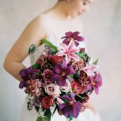 Elegant Purple Garden Bouquet for a Spring Bride