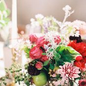 Botanical Fruit and Flower Centerpiece