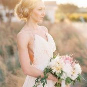 Rustic Modern Bride at Magic Hour