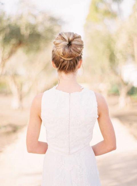 Clean and Classic Modern Bridal Bun